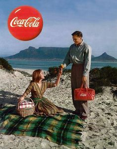 Coca Cola advertisement, Cape Town, 1959