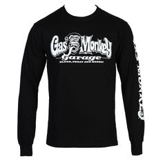 Gas Monkey Garage Blood Sweat Beer Logo Adult Long Sleeve T-Shirt - Black #GasMonkey #LongSleeve