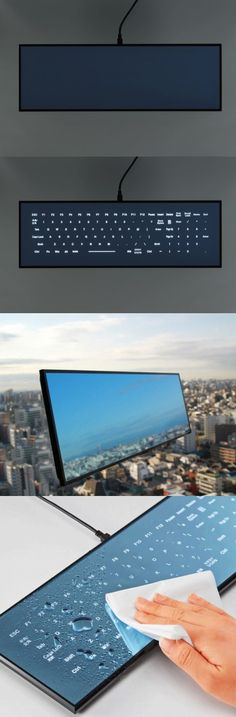 Full size mirror glass keyboard