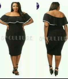 PLUS SIZE MESH SHEER RUFFLE SHOULDER POINT MIDI BLACK BODYCON DRESS 1X 2X 3X