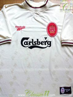 1996 97 Liverpool Away Football Shirt (L) 093c7ce25
