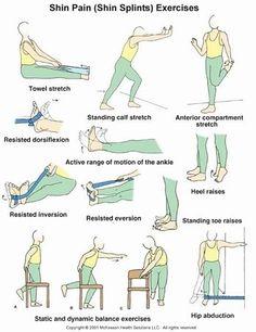 shin pain exercises