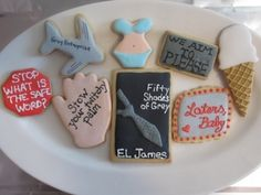 Cookies I made for our book club  fifty Shades of Grey Cookies By my2sunshines on CakeCentral.com