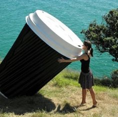 Giant coffee! You know who would love this, hahahaha