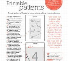 How to print a pattern/ template/ printable from our website Wool Thread, Free Printables, Templates, Website, Pattern, Crafts, Stencils, Manualidades, Free Printable
