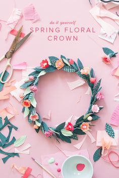 DIY Paper spring floral crown