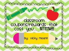 Viewing 1 - 20 of 16152 results for freebie classroom coupons rewards Classroom Coupons, Classroom Behavior, Kindergarten Classroom, Future Classroom, School Classroom, School Fun, School Stuff, Classroom Ideas, School Ideas