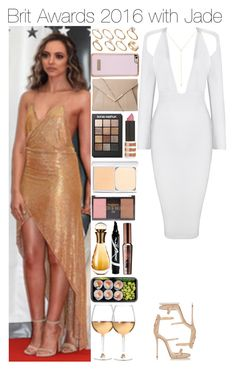 """""""Brit Awards 2016 with Jade"""" by onemix-cmxx ❤ liked on Polyvore featuring Ted Baker, Giuseppe Zanotti, ASOS, Sonia Kashuk, Topshop, RMK, Forever 21, Christian Dior, Maybelline and Marc Blackwell"""
