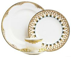 Lenox Colonial Bamboo Gold Banded Bone China Dinner Plate by Lenox. $22.40. Dishwasher- and microwave-safe. Crafted of Lenox fine bone china. Accented with 24 karat gold. A thatched bamboo motif encircles the border of this exotic plate just inside its gold rim. Tiny accents of blue peek through the design, like glimpses of a tropical sky.. Save 32% Off!