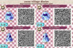 Animal Crossing New Leaf QR codes Yukata Hydrangea