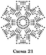 схема вязания крючком цветочного мотива