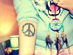 Peace Flower Tattoo