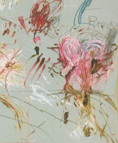 Cy Twombly, School of Athens (1964). Detail