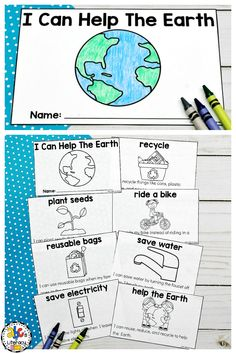 Your students will have fun celebrating Earth Day this year by learning all about what they can do to help the Earth! Your Preschoolers, Kindergartners, 1st Graders and 2nd Graders will love learning about recycling, reusing, and reducing and more while reading this Earth Day reader. This Earth Day book is included with a writing prompt, crown, craft, and more. Click on the picture to learn more about these Earth Day Activities! #earthdayactivities #earthdayreader #earthdaybook #printablebook