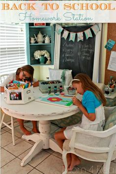 Back to School Homework Station by @Jessica Kielman         {Mom 4 Real} #Michaelsbts