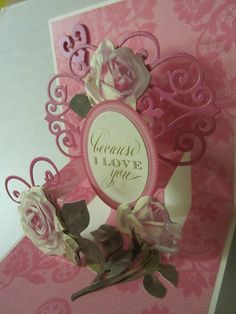 Add flourishes from Cricut cartridges to Anna Griffin's pop up card kit