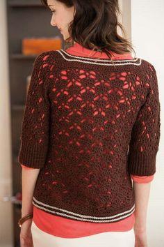 Blueprint Crochet Sweaters: Crocheted Cardigan