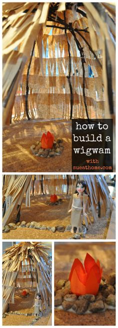 Making a wigwam for a school project