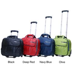 Make your life easier with this padded rolling laptop case by CalPak, which comes in a variety of colors. The padding, lining and bottom stand keep your laptop well protected while you zip through airports or run from meeting to meeting.
