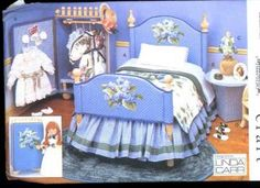 Doll Furniture Patterns Uncut Vogue 9352 Pattern for Doll Furniture & Bed Accessories  by SewMrsP