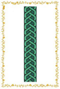 "Peyote beading pattern Bracelet cuff ""Interlacement"".  Instant Download. Pattern PDF."