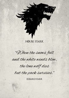 House Stark - Le Trône de fer de Teacuppiranha - Game of Thrones - Game Of Thrones Tattoo, Game Of Thrones Party, Got Game Of Thrones, Game Of Thrones Quotes, Game Of Thrones Funny, Game Of Thrones Ghost, Game Of Thrones Wolves, Game Of Thrones Drawings, Game Of Thrones Poster