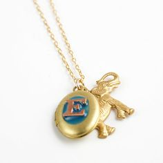 Initial Elephant Necklace from Jenny Topolski, $28, now featured on Fab.