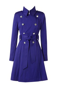 Karen Millen Taffeta Trench Coat Blue . All these fabulous karen Millen coats offered at our online store, further, our website also provide many stylish Cheap Karen Millen Dresses at attractive price and free shipping for you now. Feature: * Style Code: 2638624268 * Dry Clean Only * 20% Polyamide,80% Wool * Length: Above The Knee