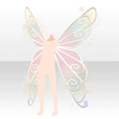 (Back Accessories) Fairy Rainbow Wings ver. Wings Drawing, Gesture Drawing, Chibi, Wings Etc, Wings Design, Cocoppa Play, Anime Hair, Anime Outfits, Drawing Reference