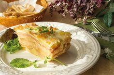 #Receta Lasaña de Patatas y Jamón Cocido
