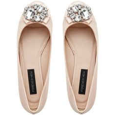 Elizabeth Embellished Ballet ($47) ❤ liked on Polyvore featuring shoes, flats, sapatos, zapatos, ballet flat shoes, ballerina flats, ballet flats, patent flats and patent leather shoes