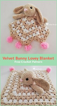 I found a sweet blanket for children. It is with a bunny theme. It is loved and very cool. It is made of the best materials. It is a free pattern.