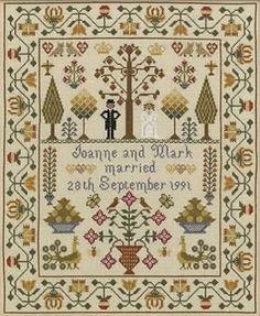 Cross Stitch Wedding Sampler