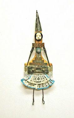 http://indiandollartworks.blogspot.com/2010/11/paint-brush-art-doll-pebo.html    Carla Trujillo - Mixed Media Artist: Paint Brush Art Doll - Pebo