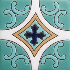 #Highrelief #tile from #myMexicanTile is #ideal for any #indoor #outdoor #decor #project. Use #relief tile alone or combine them into creative #mosaics. Often, the #tiles are used for #kitchen backsplash, #stair risers and #floor well accents. High relief tiles are twice as thick as regular tile and significantly more #resistant to physical damage. Main difference between regular version and the relief tile is the #pattern elevated from the background as a consequence of #unique #painting…