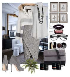 """""""Untitled #514"""" by misaflowers ❤ liked on Polyvore featuring Woolrich, H&M, NIC+ZOE, Gianvito Rossi, 7 Chi, Chanel and Timothy Dunn"""