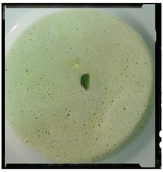 Soup#basil#peas#creamfraiche