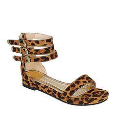 Loving this Leopard Formula Gladiator Sandal on #zulily! #zulilyfinds