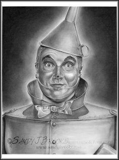 Original Artwork Jack Haley Tin Man Wizard of Oz by SandyJBrooks
