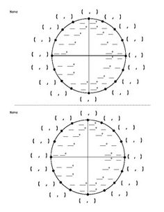 Blank Unit Circle | school | Pinterest | Circles, To the and Blank ...