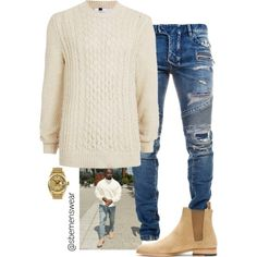 Kanye's Look for Less by efiaeemnxo on Polyvore featuring polyvore, Balmain, Topman, Yves Saint Laurent, Rolex, men's fashion, menswear and clothing