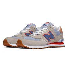 eda89df6204 Men s New Balance 574 Premium Cruisin Sport Shoes Sand with Crater  amp   Red Lauren Jones