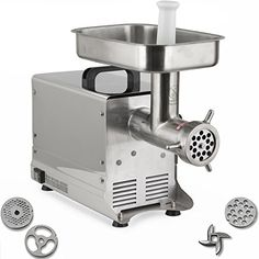 Della CommercialGrade Electric Meat Grinder w 3 BladeStainless Steel 550w 12 >>> You can get additional details at the image link.Note:It is affiliate link to Amazon.