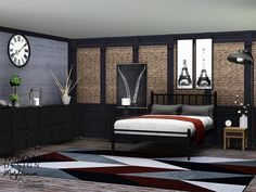 Molybdenum Bedroom by wondymoon - Sims 3 Downloads CC Caboodle