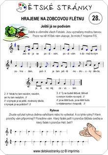 Škola hry na zobcovou flétnu zdarma - LEKCE 28. Word Search, Words, Horse