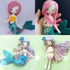 Crochet mermaid dolls. (Inspiration). ♡