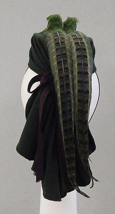 Hattie Carnegie, Inc. (American) Date: 1940 Culture: American Medium: wool, feathers, silk