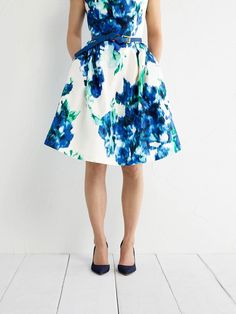 Bring a pop of pattern to the party! fun floral dress $39.99 Compare At $68