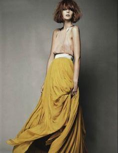 Mustard ballgown