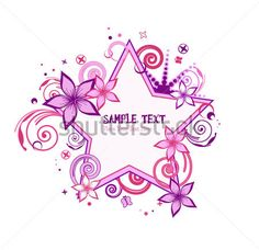 pink-and-purple-stars-floral.jpg (450×436)
